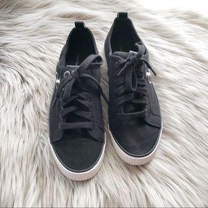 Calvin Klein Black Dora Logo Sneakers Size 7